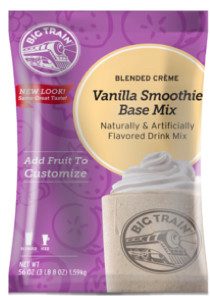 Vanilla Smoothie Base Mix is full of creamy vanilla flavor, is caffeine free, and contains no hydrogenated oils or trans fats. Kosher-Dairy and Halal certified. Our Vanilla Smoothie Base Mix is full of creamy vanilla flavor, is caffeine free, and contains no hydrogenated oils or trans fats. Kosher-Dairy and Halal certified