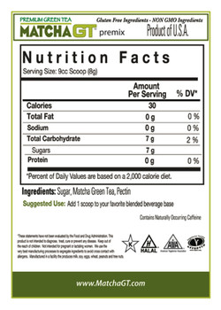 Nutritional Information 30 Calories 0 Total Fat 0 Sodium 7 gms Carbohydrates 7 gms Sugars 0 g Protein Serving Size: 1 Scoop = 6 Grams