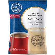 "Big Train Vivaz Horchata Blended Crème Frappe Mix has quickly become one of our top flavors! Our creamy VIVAZ (pronounced ""vee-vaz"") Horchata base starts with nonfat milk and real sugar. We add rice flour for a traditional horchata experience and texture, then sprinkle it with cinnamon and other natural flavors. Enjoy our delicious horchata mix on its own, or top with whipped cream for an indulgent finish. Our VIVAZ Horchata Drink Mix is full of rich flavor and is caffeine-free. Serve hot, iced, or blended."