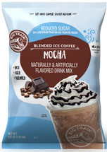 Like our original Big Train Mocha Blended Ice Coffee Frappe Mix, this rich-tasting, no-sugar-added version delivers creamy, consistent texture. Hot or iced, this NSA mocha mix is sure to please coffee lovers in search of something a little different. For a sweet twist, customize with add-ins like flavored sugar-free syrups. Our No Sugar Added Mocha Blended Ice Coffee Mix is full of rich chocolate flavor and contains no added sugars (not a low-calorie food), hydrogenated oils or trans fats. Serve, hot, iced, or blended.