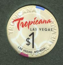 Tropicana Las Vegas $1 Casino Chip J0892CC