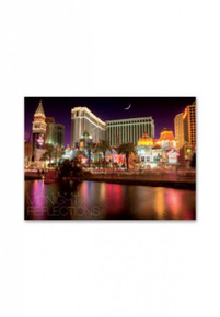 Las Vegas Midnight Reflection Postcard Venetian