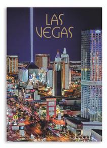 Las Vegas Strip Glitter Postcard