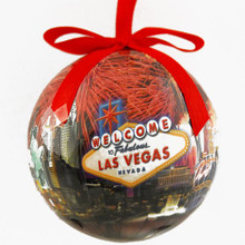 Las Vegas Sign Hotels Fireworks Holiday Christmas Tree Ornament