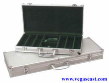 Aluminum Poker Chip Case 500 Chips