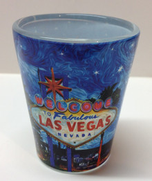 Welcome To Fabulous Las Vegas Sign Shot Glass