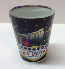 Las Vegas Hotels Shot Glass U2268