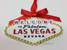 Welcome To Las Vegas Sign Christmas Tree Holiday Hanging Ornament C3986