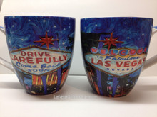 Las Vegas Welcome Sign Large Belly Coffee Mug