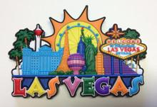 Las Vegas Hotels 3D Magnet