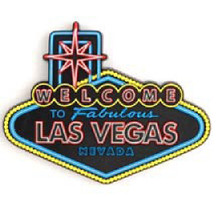 Fabulous Las Vegas Welcome Sign 3D Magnet