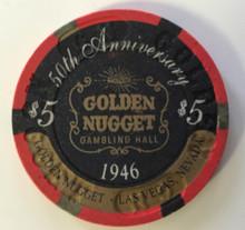 Golden Nugget Las Vegas $5 50th Anniveresary Casino Chip