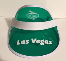 Las Vegas Welcome Sign Green Poker Visor