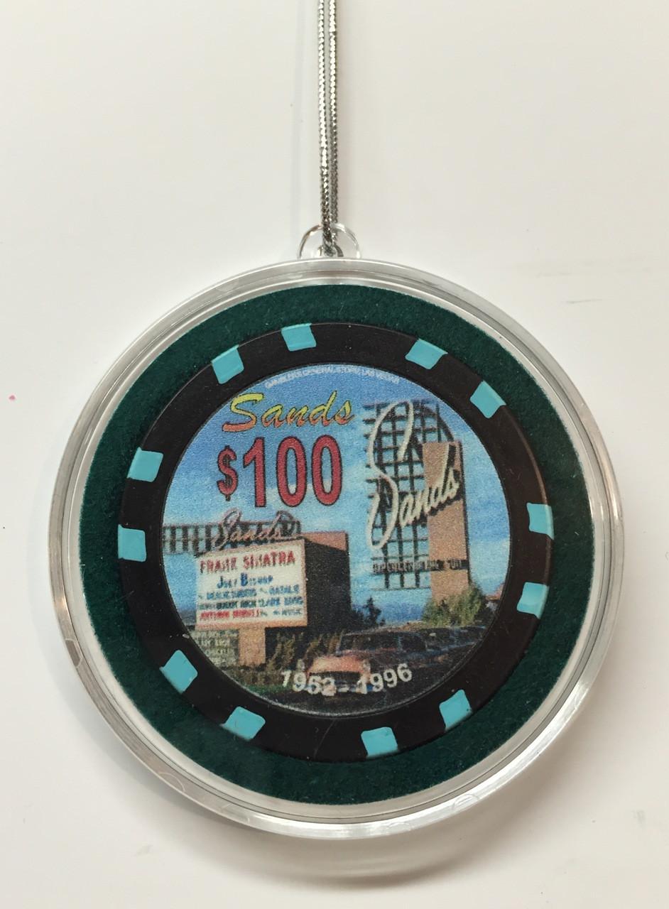 Sands Casino Las Vegas 100 Chip Christmas Ornament Direct Order Center