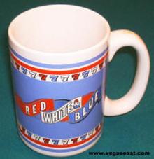 Red White & Blue 7's Coffee Mug