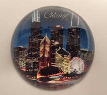 Chicago Landmarks Skyline Desk Paper Weight