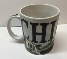 Chicago Landmarks Coffee Mug Black White