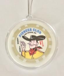 Pioneer Club Las Vegas $1 Chip Ornament