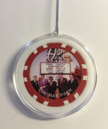 Sands Las Vegas Rat Pack Chip Ornament