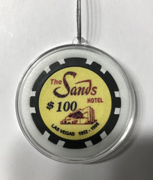 Sands Hotel Las Vegas $100 Chip Ornament