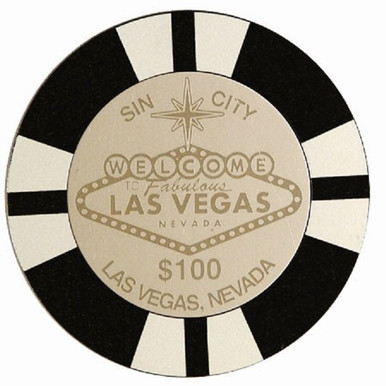 Las Vegas Sign $1000 Black Chip Coaster Set