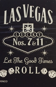 Las Vegas Sign Black Playing Cards