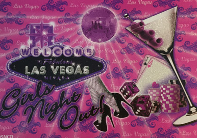Las Vegas Girls Night Out Pink Postcard