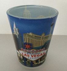 Las Vegas Sign Blue Shotglass