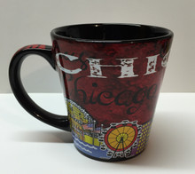 Chicago Skyline Red Coffee Mug 10 ounce Millenium Park