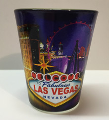 Las Vegas Purple Metallic Shotglass
