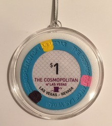 Cosmopolitan Las Vegas Casino Chip Holiday Ornament