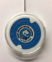 MGM Grand Las Vegas Casino Chip Holiday Ornament