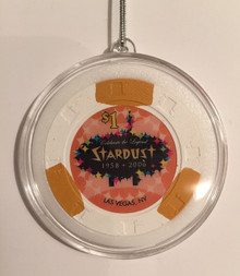 Stardust Las Vegas Casino Chip Holiday Ornament