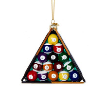 Pool Table Balls Triangle Cue Rack Tree Ornament Kurt Adler