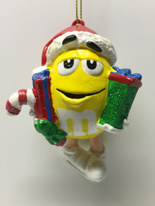 M&M Candy Yellow Holiday Ornament Gift Boxes