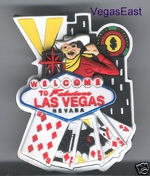 Las Vegas Vic Welcome Sign Casino Magnet