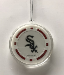 Chicago White Sox Poker Chip Christmas Tree Hanging Ornament
