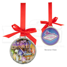 Las Vegas Strip Foil Finish Hanging Ornament