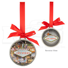 Las Vegas Sign Strip Hotels Foil Finish Hanging Ornament