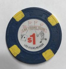 Las Vegas Club Nevada $1 Casino Chip
