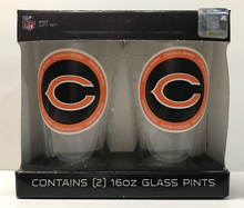Chicago Bears Pint Glass Gift Set NFL