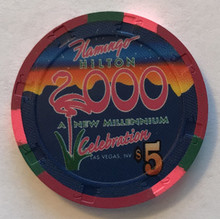 Flamingo Las Vegas $5 Millenium Casino Chip