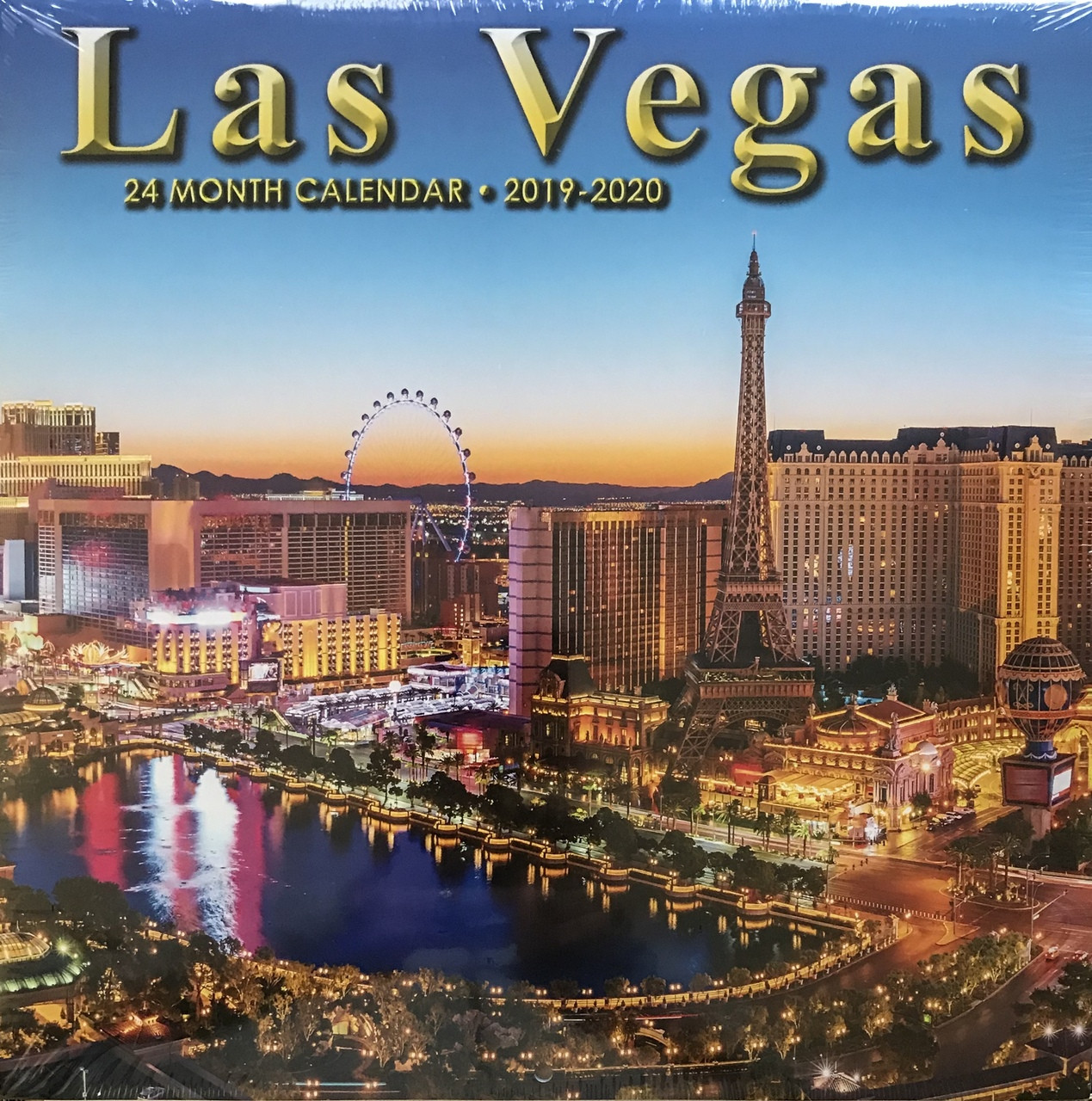 Wall Calendar 2020 2019 2020 24 Month 2 Year Las Vegas Wall Calendar   Direct Order