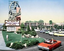 Sands Hotel and Casino Las Vegas Color Matted Print