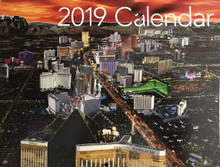 2019 14 Month Las Vegas Strip Hotels Wall Calendar