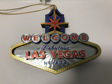 Welcome To Las Vegas Sign 3D Christmas Tree Ornament