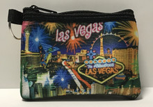 Las Vegas Neon Fireworks Coin Purse