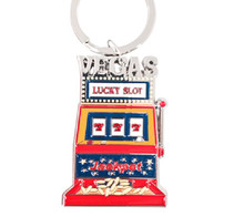 Las Vegas Lucky Slot Machine Key Chain