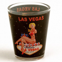 Las Vegas Pinup Girl Shot Glass
