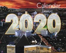 Las Vegas Calendar 2020 2019 2020 24 Month 2 Year Las Vegas Wall Calendar   Direct Order